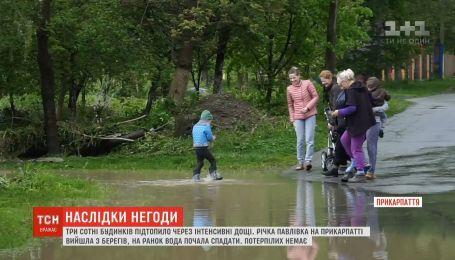 Три сотні будинків через інтенсивні дощі підтопило на Прикарпатті