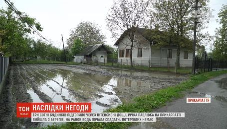 На Прикарпатье река вышла из берегов и подтопила сотни домов