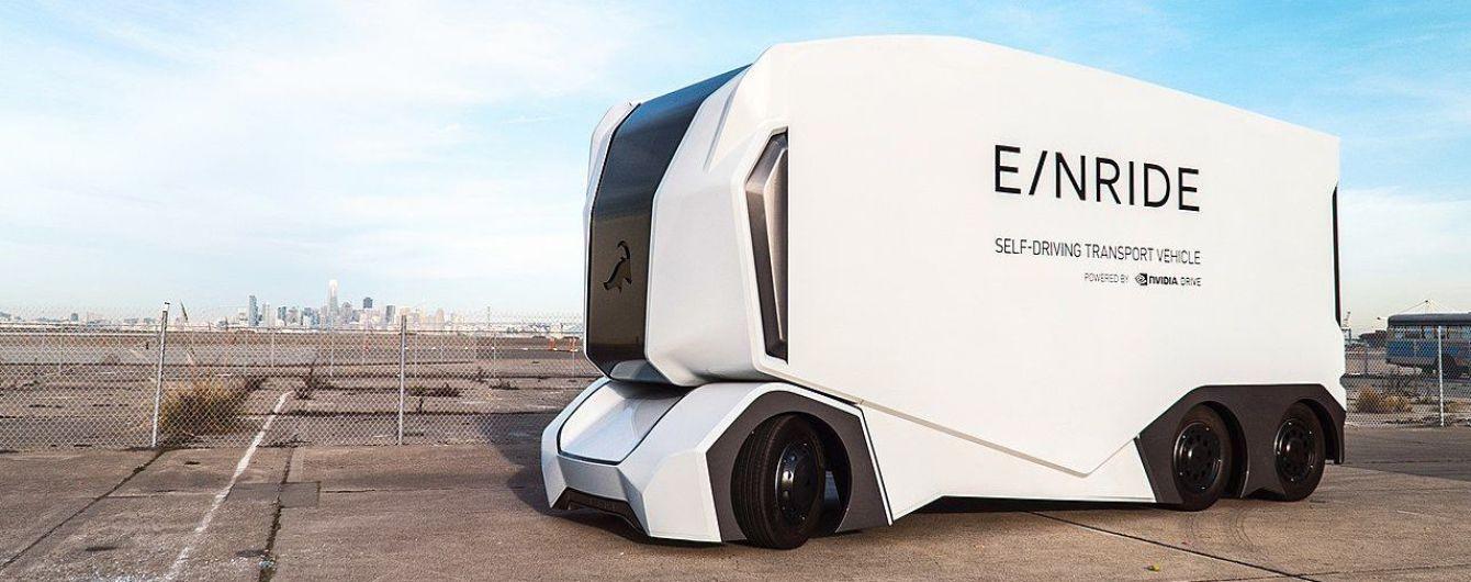В Швеции начал работу первый беспилотный грузовик T-pod