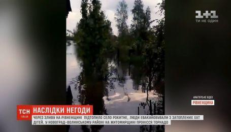 Злива, град та торнадо: регіонами України прокотилася негода