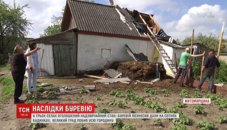 Унаслідок торнадо у трьох селах на Житомирщині оголошено надзвичайний стан