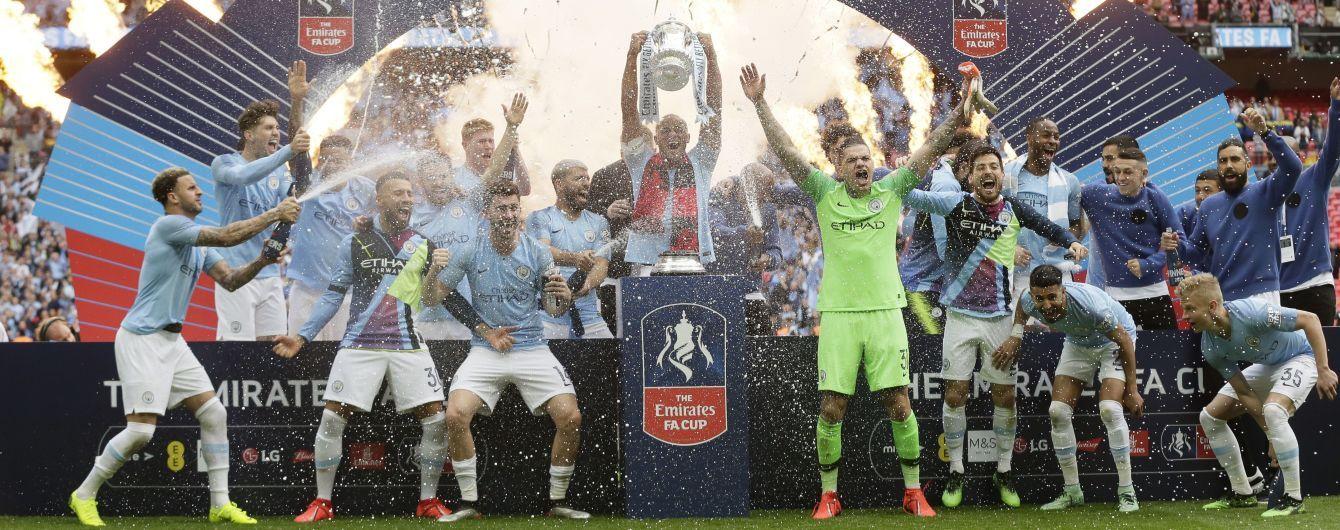 """""""Манчестер Сіті"""" став першою командою, яка виграла англійський требл"""