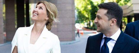 Выбрала белый: первый выход новой первой леди Украины Елены Зеленской