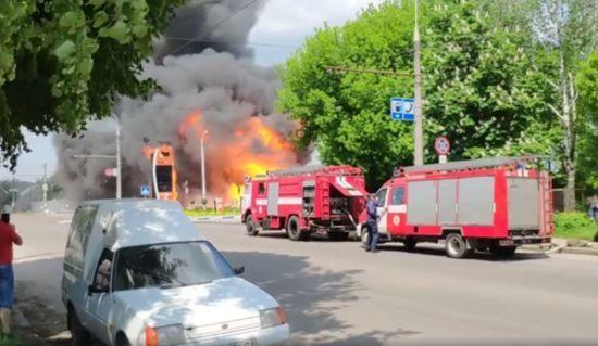 Перед пожежею на заправці у Житомирі стався виток газу – очевидці