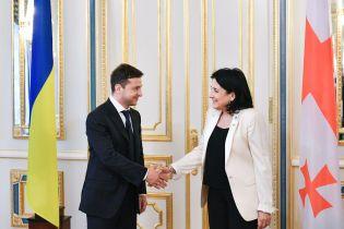 Президент Зеленський провів першу зустріч із грузинською колегою