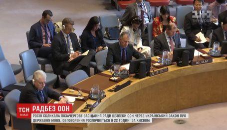 РФ созвала внеочередное заседание Совбеза ООН из-за украинского закона о государственном языке