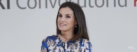 У красивій сукні та крокодилячих човниках: королева Летиція на світській церемонії