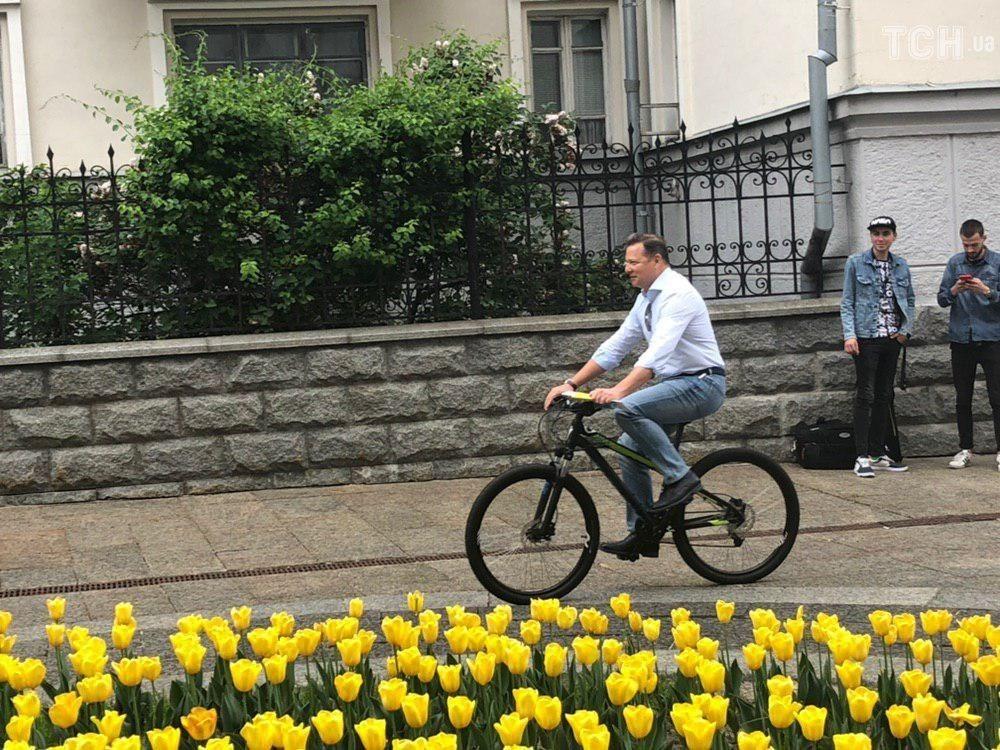 ляшко на велосипеді