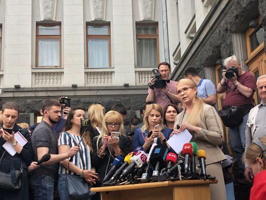 """""""Для президента хочуть створити кризу"""". Тимошенко прокоментувала можливу відставку Гройсмана"""