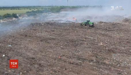 Пожежа на сміттєзвалищі на Миколаївщині: підозрюють недбалість або зумисний підпал