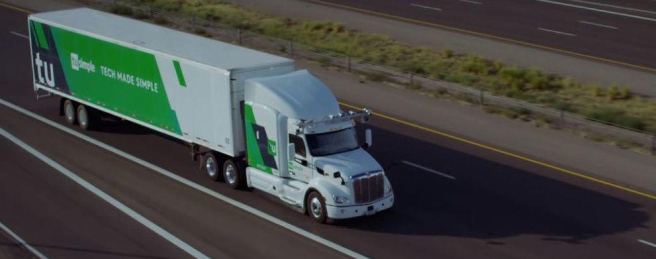 На автомагистрали в США выпустили беспилотные фуры