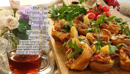 Йоркширський пудинг з беконом - рецепти Сенічкіна