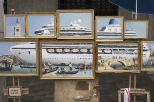 Бэнкси выставил картину на Венецианской биеннале, но полиция его прогнала