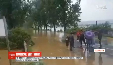 На Закарпатье 10-летнего мальчика смыло в реку