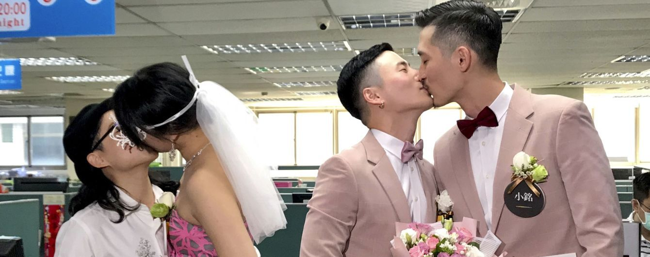 На Тайване полтысячи пар поженились в первый день легализации однополых браков