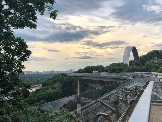 У Києві до дня міста відкрили пішохідно-велосипедний міст