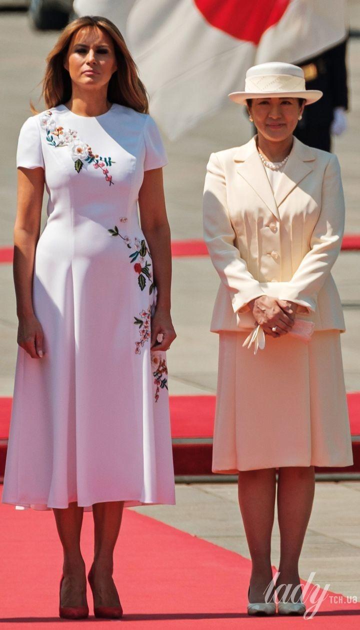 Император Японии Нарухито, Мелания Трамп и императрица Масако