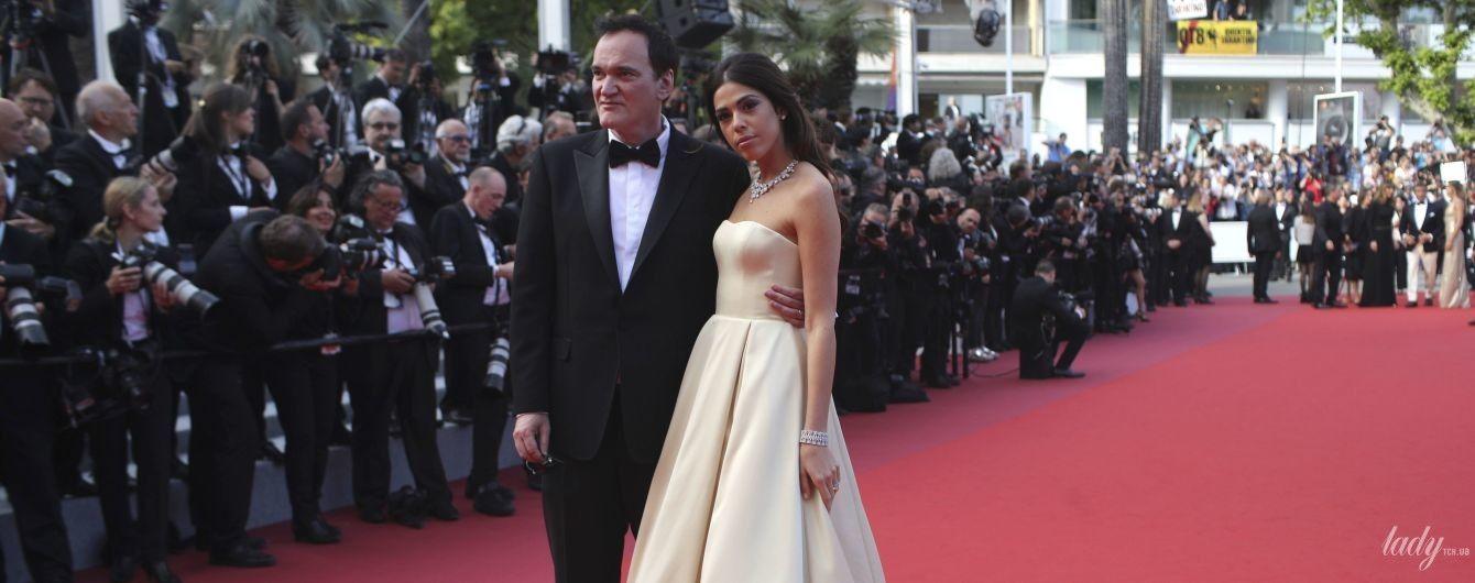 Блистали на дорожке вместе: Квентин Тарантино с молодой женой Даниэлой Пик на церемонии закрытия Каннского кинофестиваля