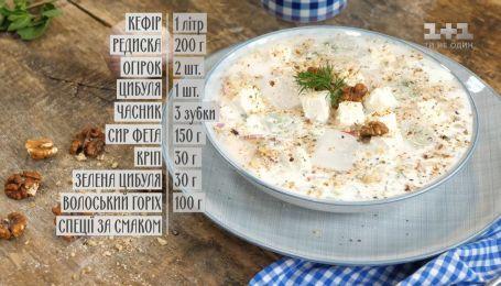 Холодний суп з кефіром - рецепти Руслана Сенічкіна