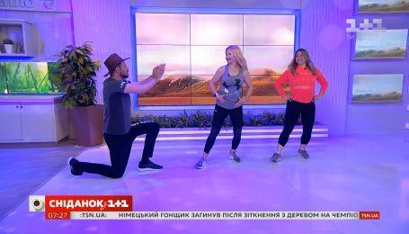 Микс диско, кантри и рок-н-ролла - танцевальная аэробика от Ксении Литвиновой