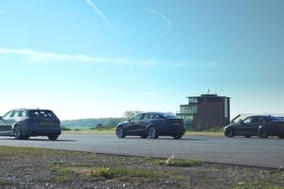 Запеклу драг-гонку Model 3 і заряджених Audi і BMW показали на відео