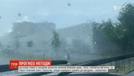 В западных областях Украины синоптики прогнозируют сильные ливни с порывистым ветром