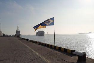 """В Одесском морском порту встретили теплоход """"Принцесса Днепра"""" с иностранными туристами"""