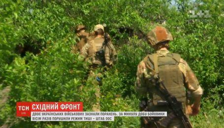 Боевики 8 раз нарушали режим тишины - штаб ООС
