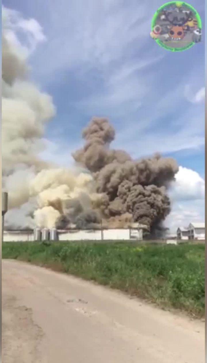 На птицефабрике в Василькове произошел масштабный пожар
