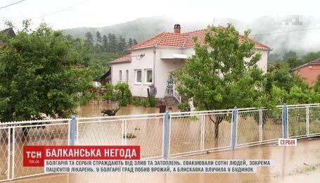 Сербія та Болгарія потерпають від злив і затоплень