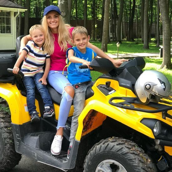 Ірина Федишин показала, як вперше з дітьми покаталася на квадроциклі