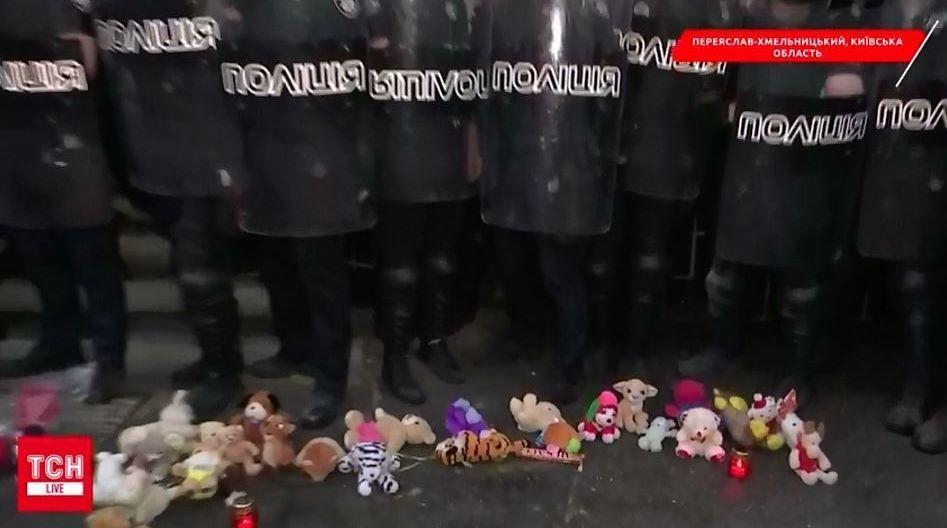 протест після вбивства дитини у Переяславі, Переяслав-Хмельницький