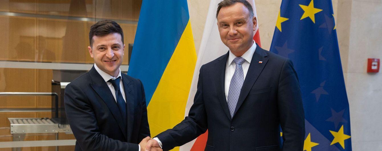 Зеленський прийняв запрошення Дуди та у вересні вирушить до Польщі