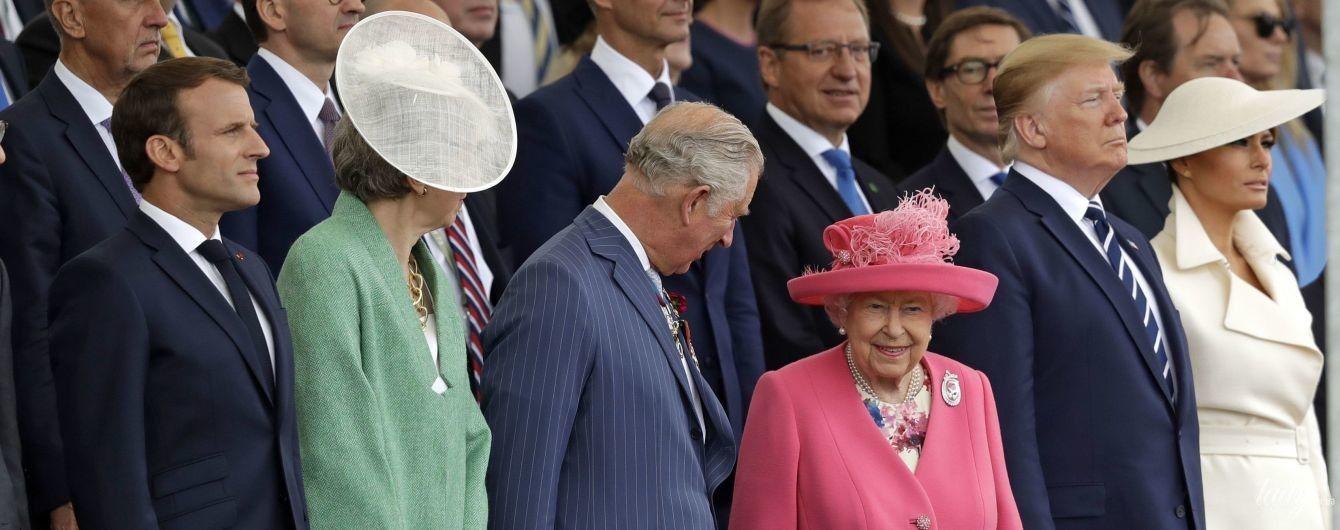 Ярче всех: 93-летняя королева Елизавета II затмила своим образом Терезу Мэй и Меланию Трамп