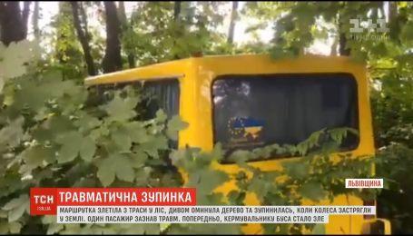 Водитель едва держался на ногах: маршрутка с пассажирами слетела с трассы в лес