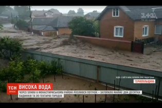 Наводнение на Тернопольщине превратило сельские улицы в бурные реки