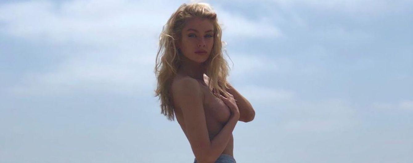 Топлес на пляжі: Стелла Максвелл поділилася пікантними знімками