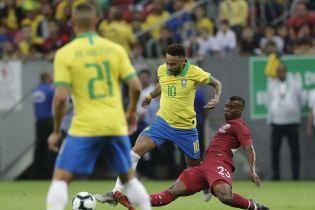 """Бразилия победила Катар в """"товарняке"""", Неймар травмировался и пропустит Кубок Америки"""