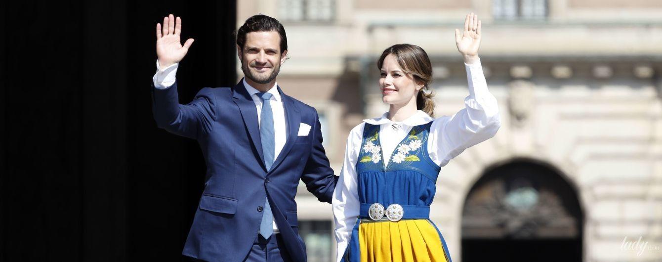 Какая яркая: принцесса София в национальном костюме приветствовала подданных у королевского дворца