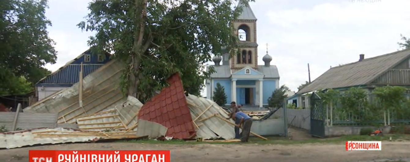 """""""Как земля с небом сошлась"""": Херсонщиной прокатился мощный циклон"""