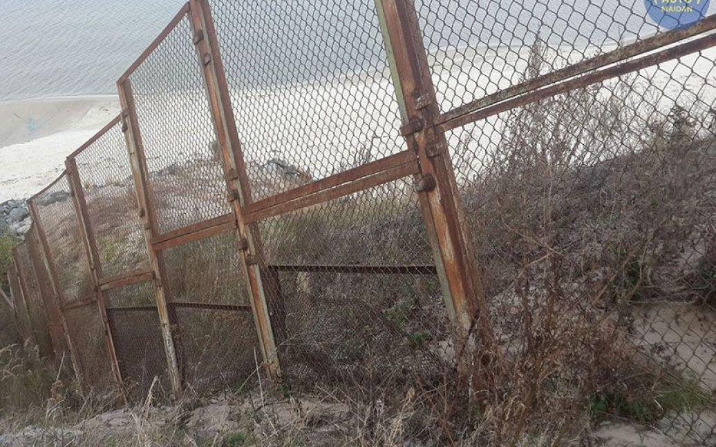 "Участок окружили забором / © сайт ""Автомайдану"""