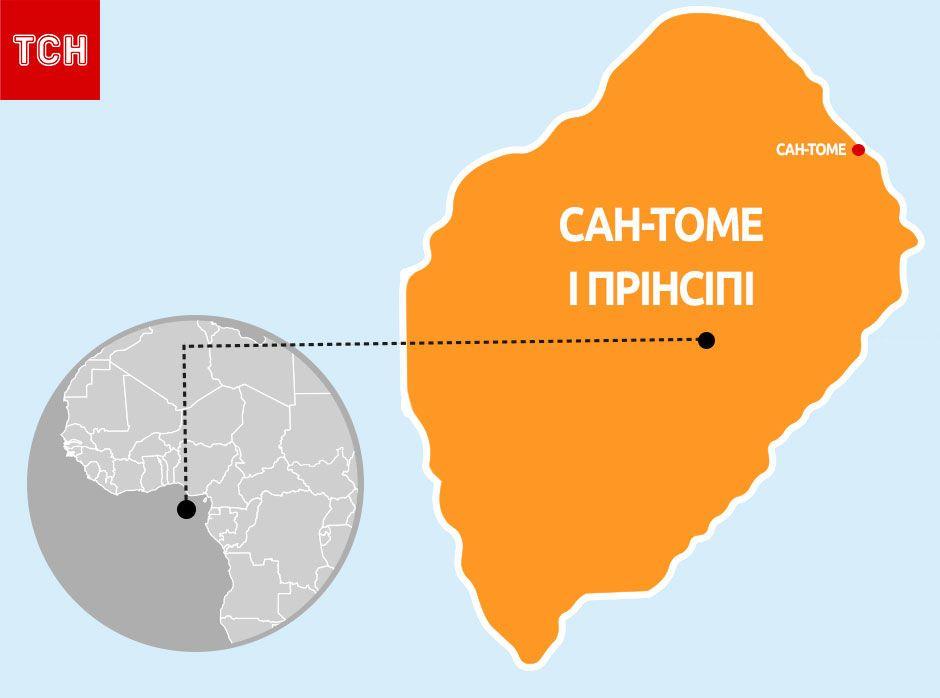Сан-Томе і Прінсіпі, мапа, для блогів