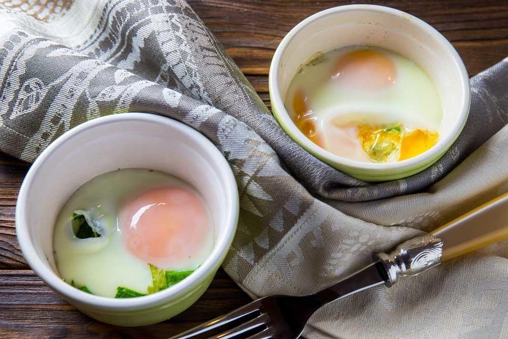 Яйця з зеленню, для блогів