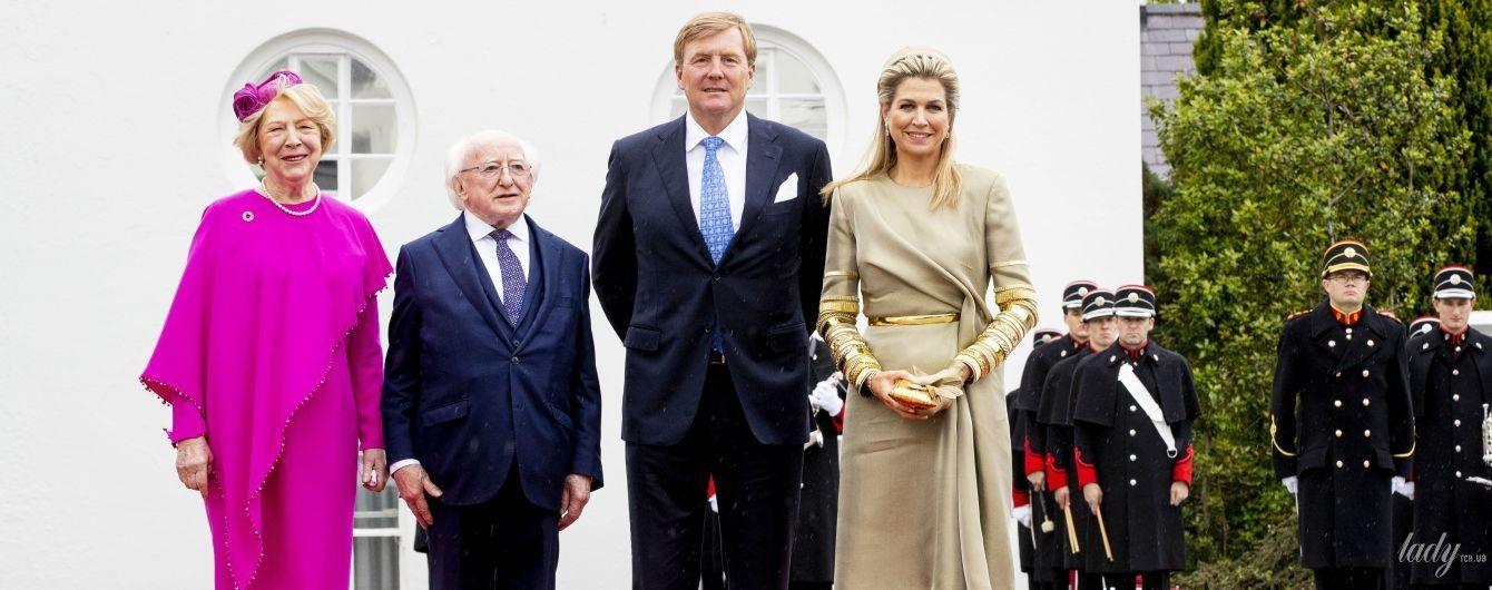 Вся в золоте: королева Максима ослепила роскошным нарядом