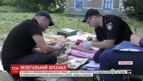 У селянина нашли один из крупнейших арсеналов боеприпасов в Украине