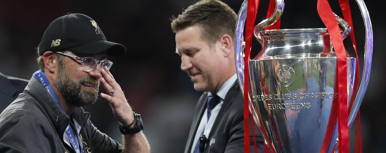 """Слезы радости и крепкие объятия. """"Ливерпуль"""" показал искренние эмоции Клоппа после финала Лиги чемпионов"""