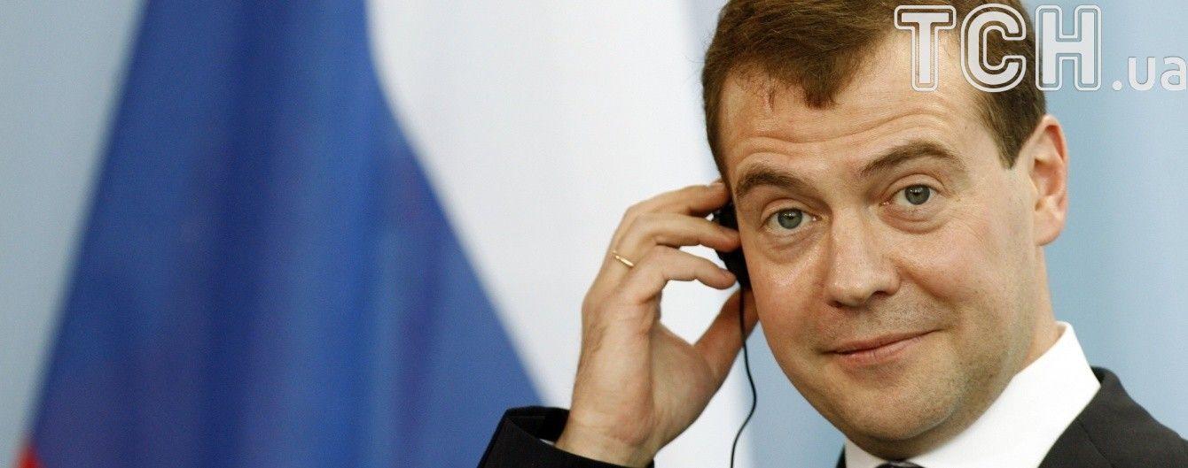 У Кремлі пояснили абракадабру Медведєва хакерською атакою