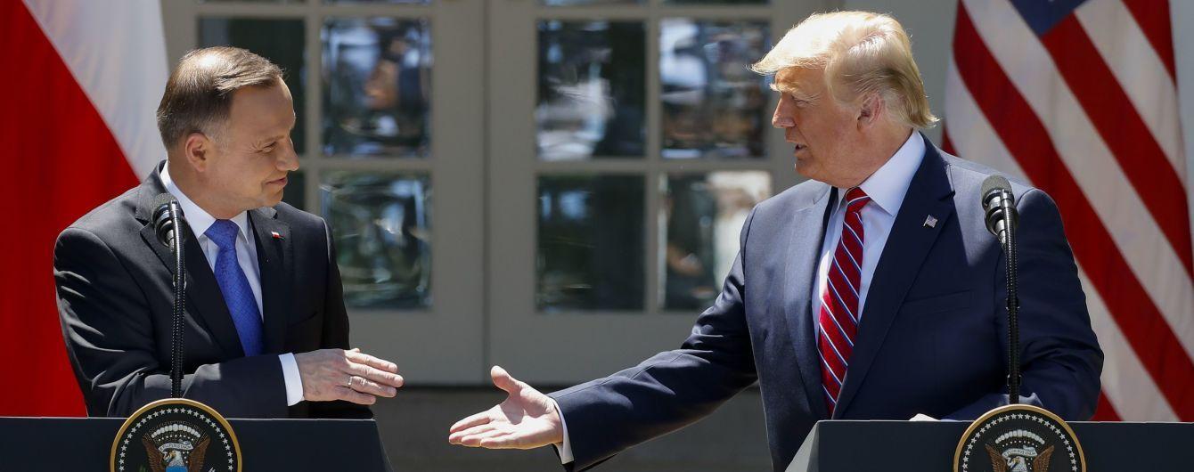 Трамп і Дуда домовилися про суттєве розширення військової присутності США в Польщі