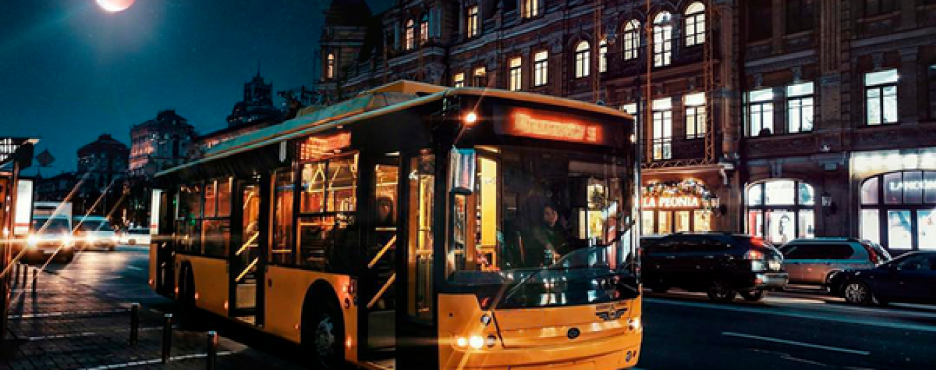В Киеве изменят маршрут движения ночного троллейбуса