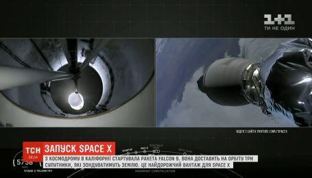 С космодрома в Калифорнии стартовала ракета Falcon 9